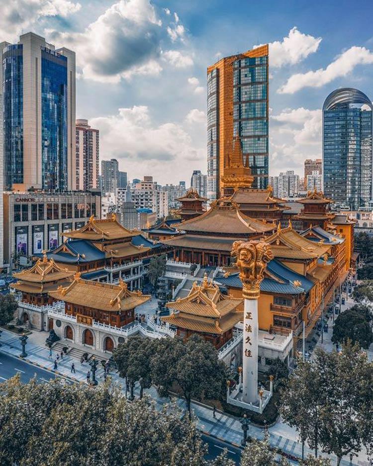 Templo-Jing'an-em-xangai