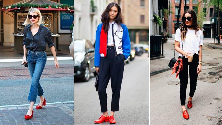 Como-Usar-Looks-com-Sapatos-Coloridos-vermelho