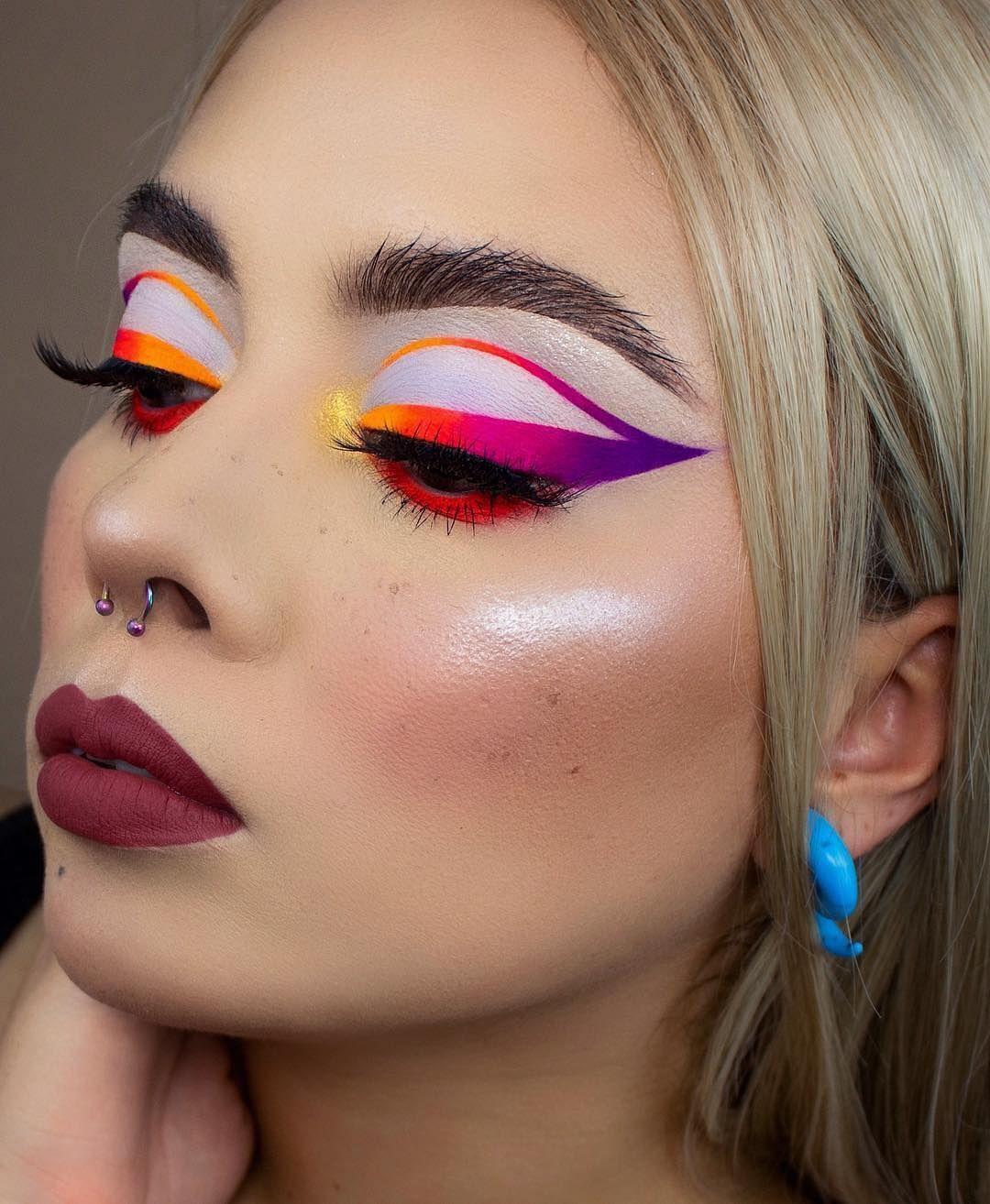 delineado grafico colorido e neon