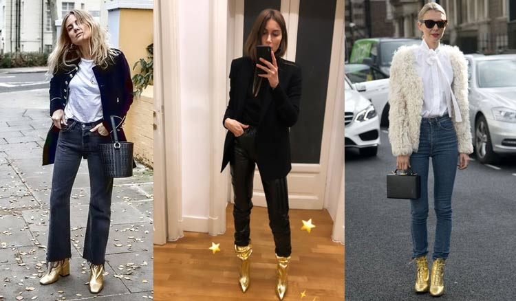 looks-com-calcados-coloridos-dourado