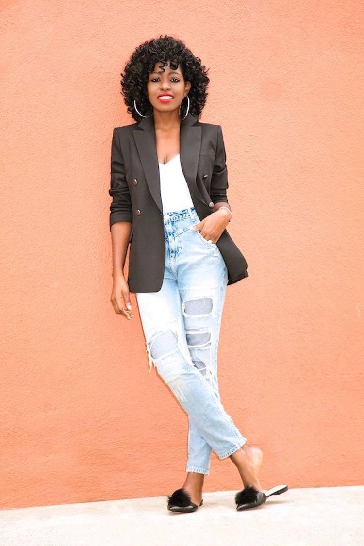 looks-de-trabalho-calca-jeans-blusa-branca-blazer-preto