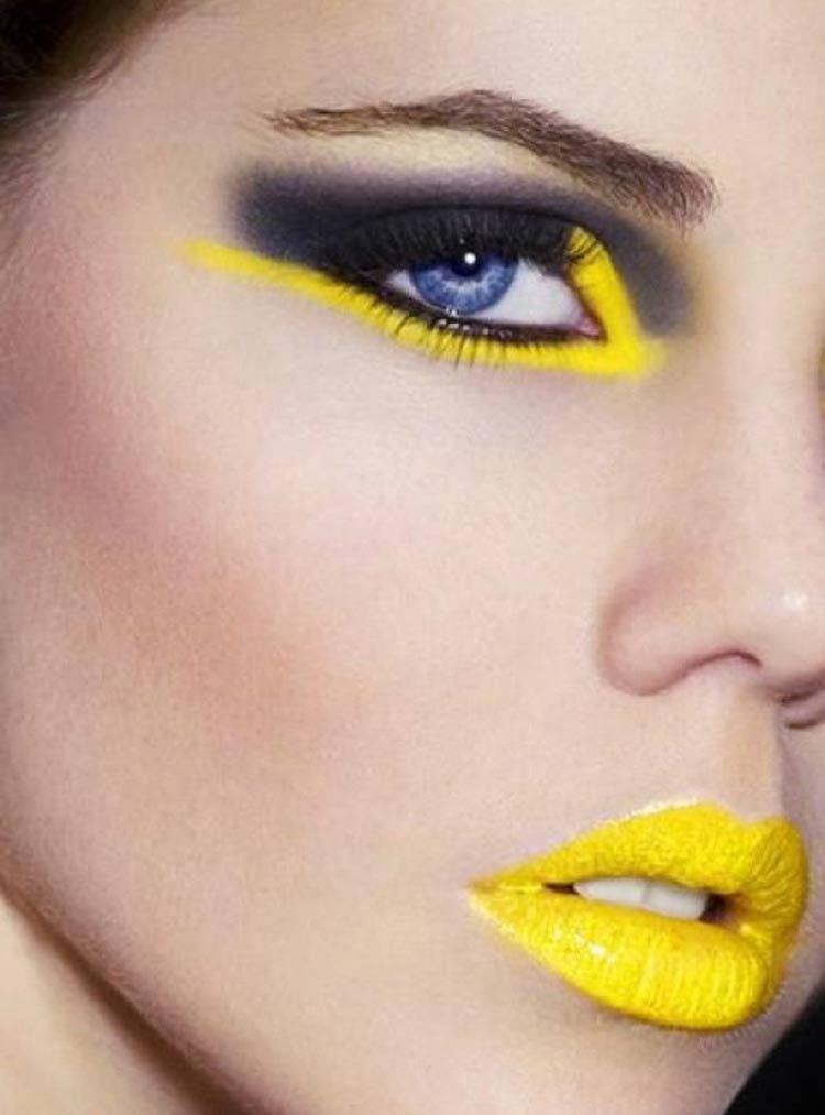 maquiagem-carnaval-amarelo