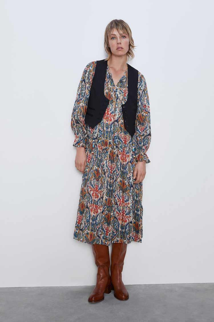 vestido-anos-70-zara-colete
