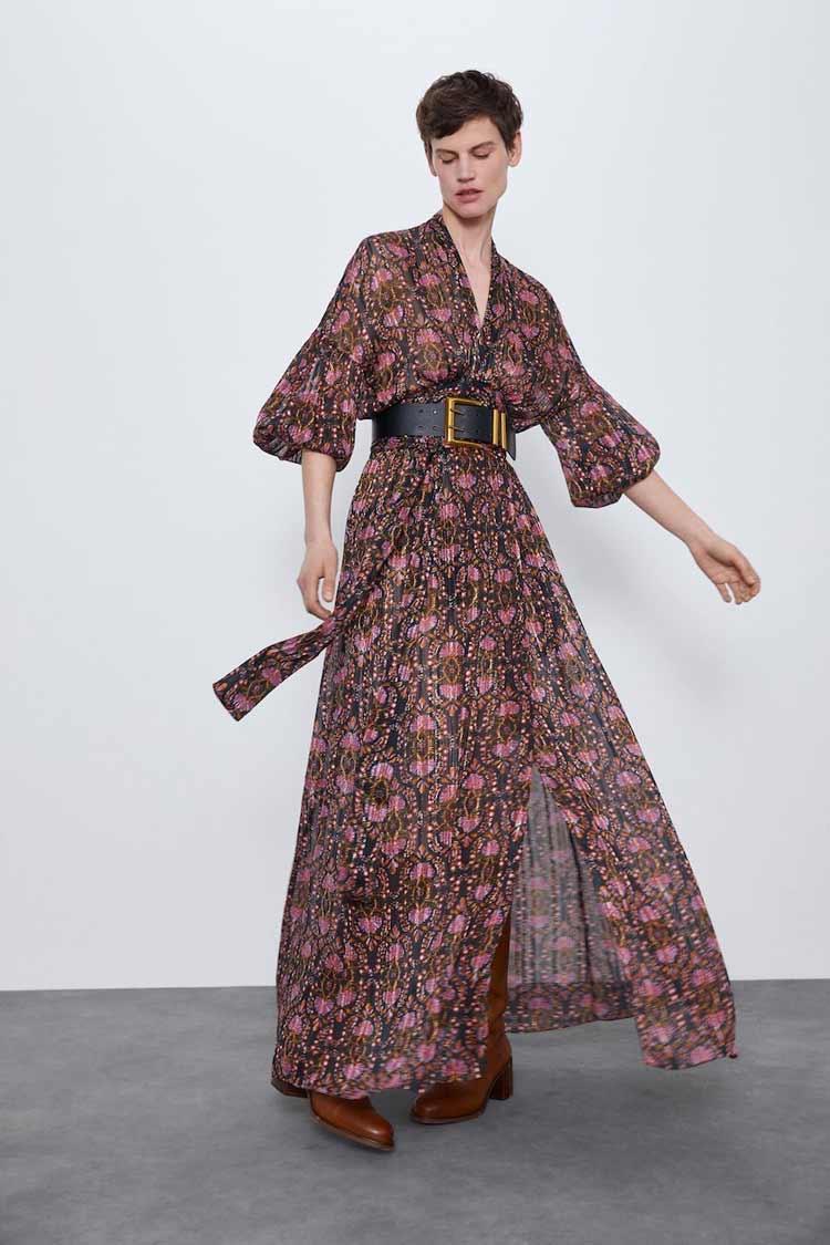 vestido-anos-70-zara-com-cinto