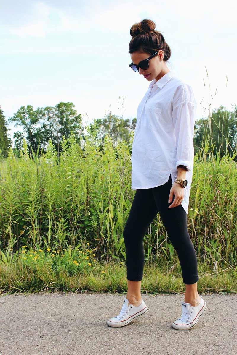 looks-de-gravida-legging-preta-camisa-branca
