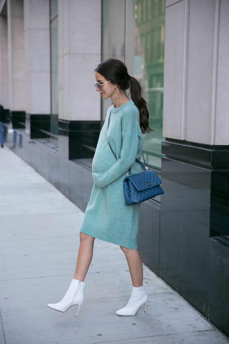 roupa-para-gravida-estilosa-vestido-verde-claro