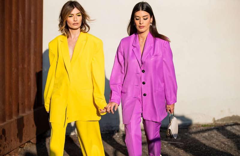 como-usar-smoking-feminino-rosa-e-amarelo
