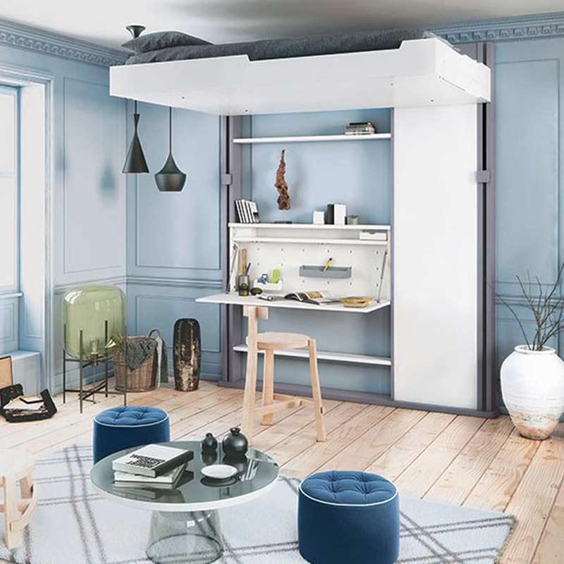 cama-suspensa-com-area-de-trabalho-em-baixo-apartamentos-pequenos