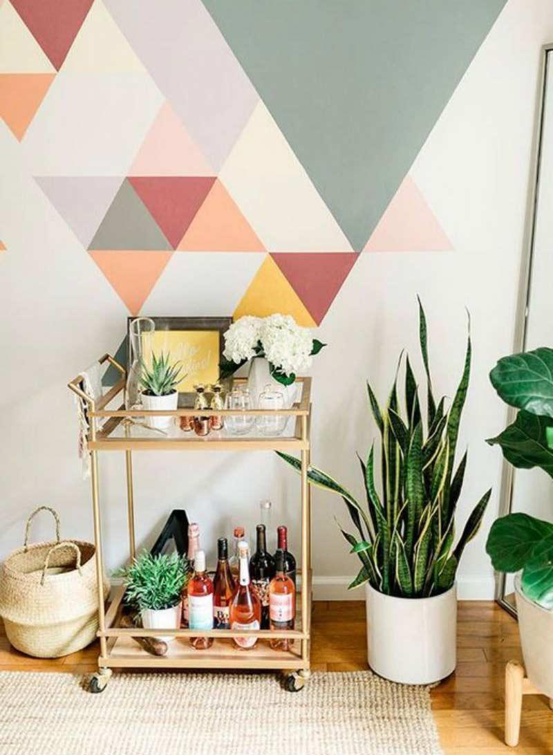 parede-geometrica-decoracao-ideias-fotos