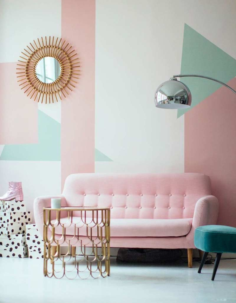 parede-geometrica-sala-rosa