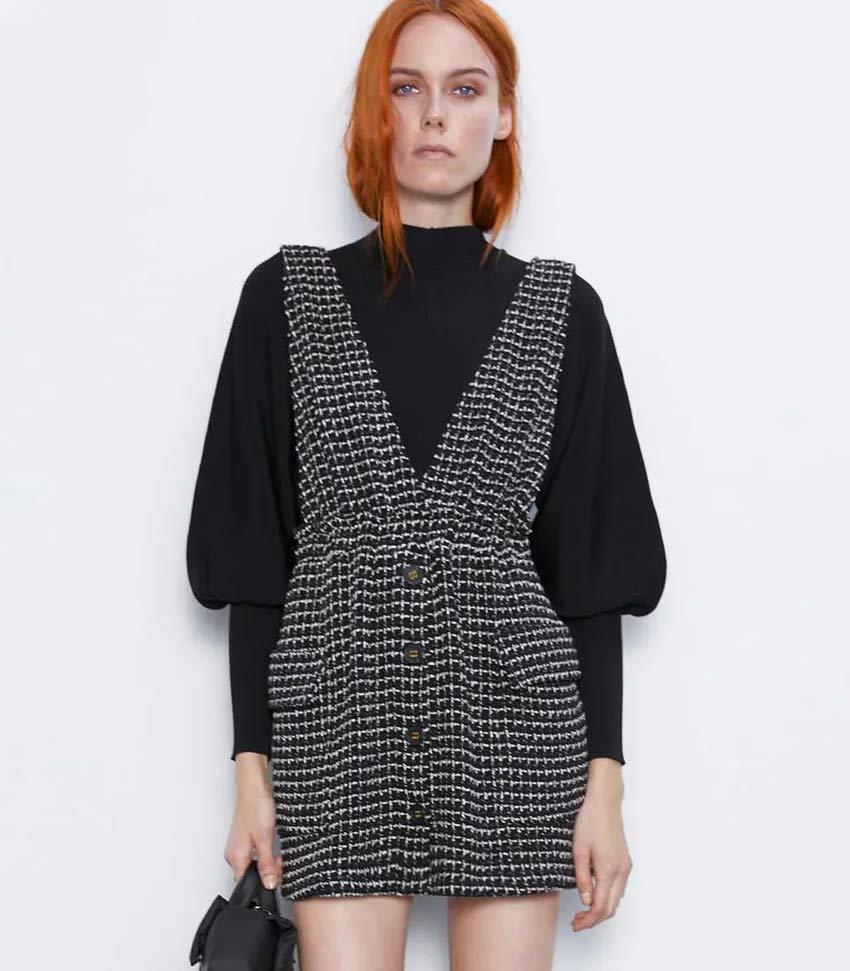 vestido-curto-zara-tweed