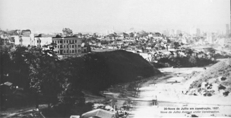 Nove de Julho em construção (1937)