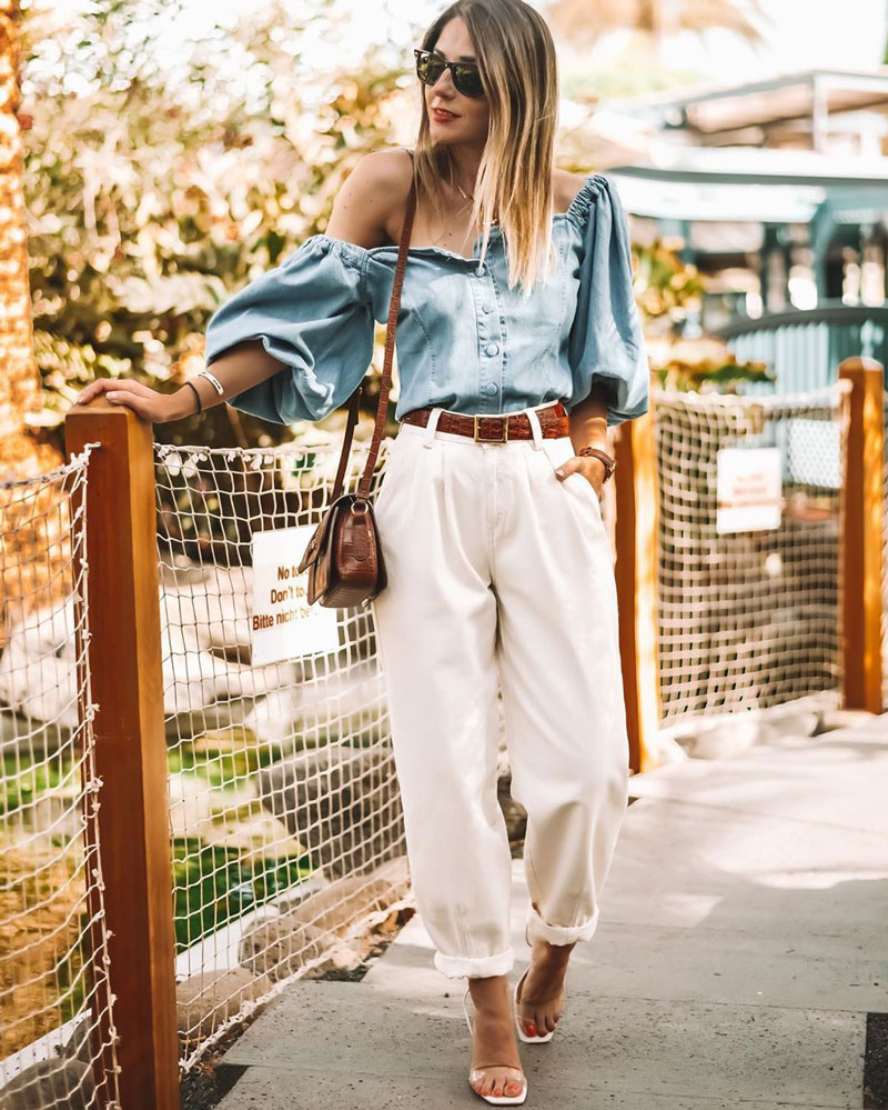 calca-slouchy-branca-blusa-jeans-looks