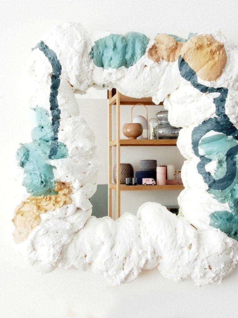 foam mirror espelho com espuma colorida