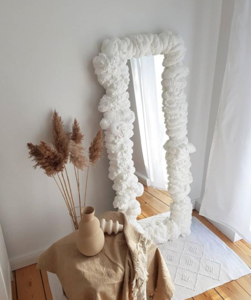 foam mirror espelho com espuma decoracao sala
