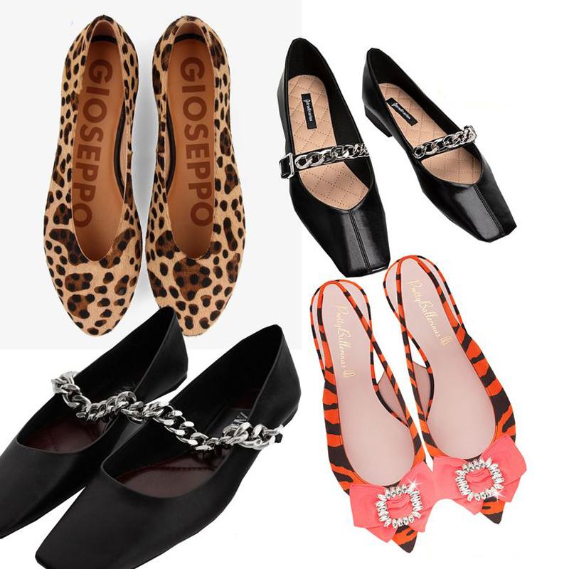 sapatilhas-estilo-bailarina-com-bico-quadrado-e-redondo