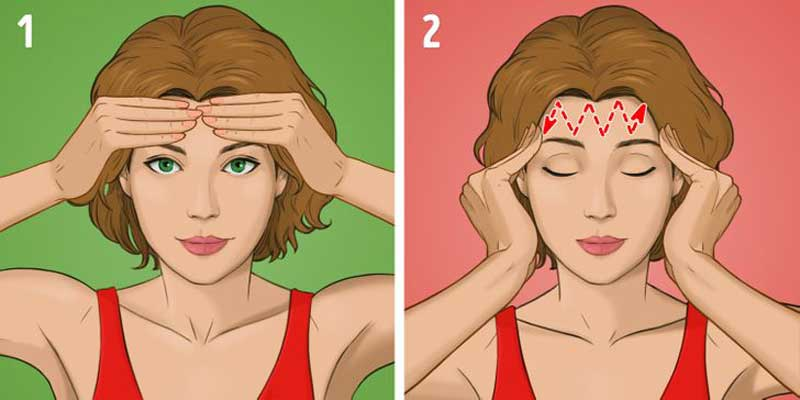 massagem-facial-na-testa
