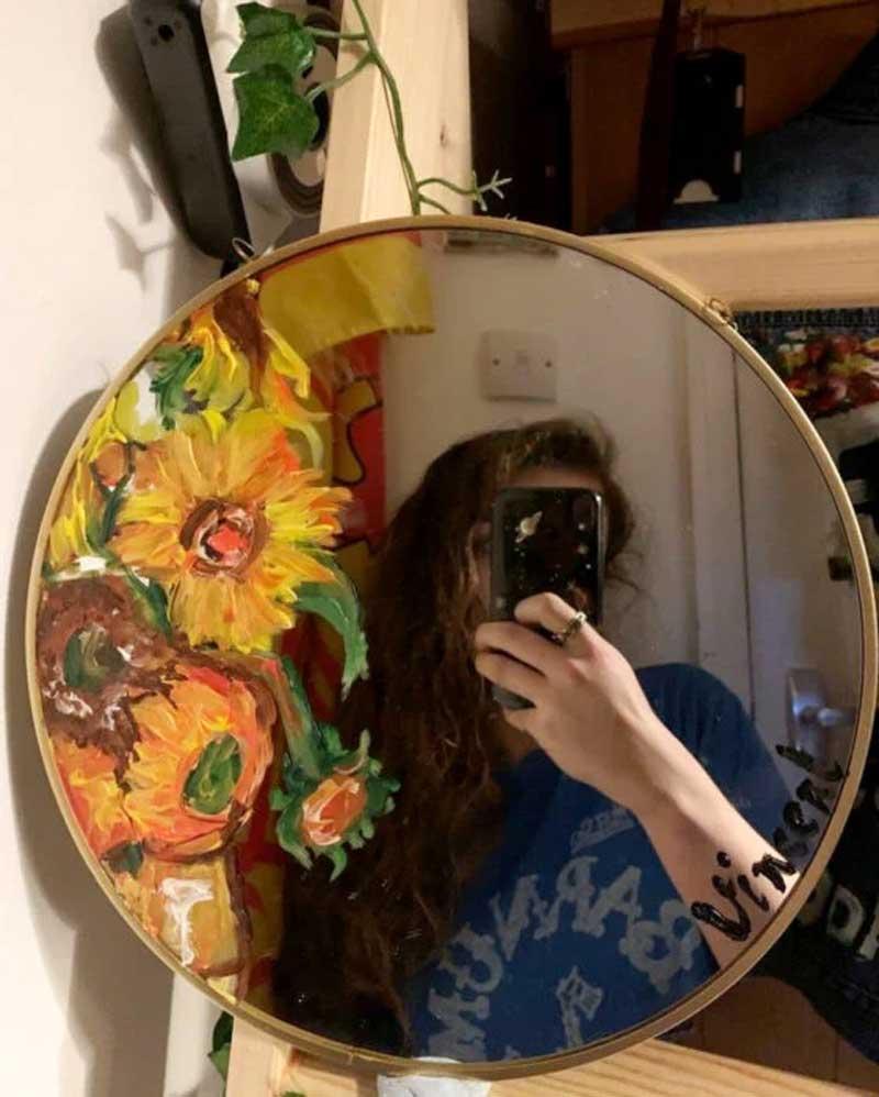 como-pintar-espelhos-girassol