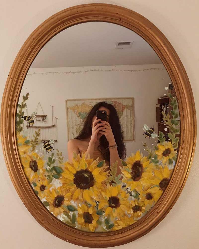 pintura-no-espelho-campo-de-girassol