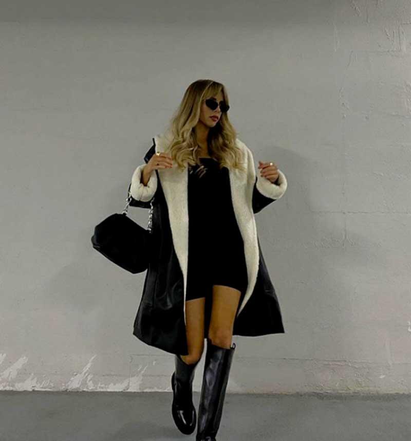bota-cano-alto-preta-vestido-curto-e-casac