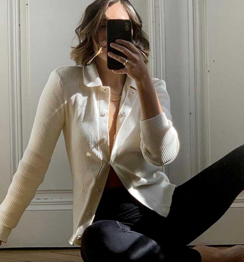 legging-preta-cardigan-nude-abotoado-fotos-selfies
