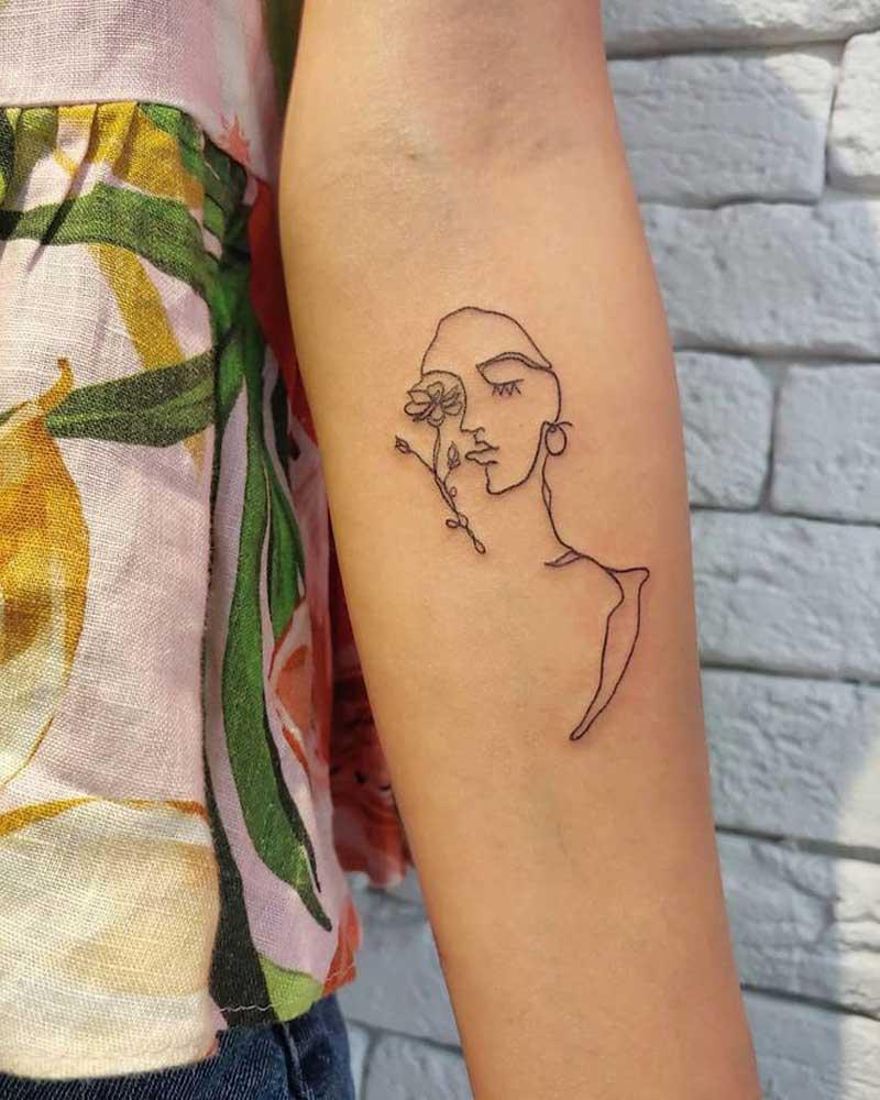 tatuagem-de-uma-linha-minimalista-rostos