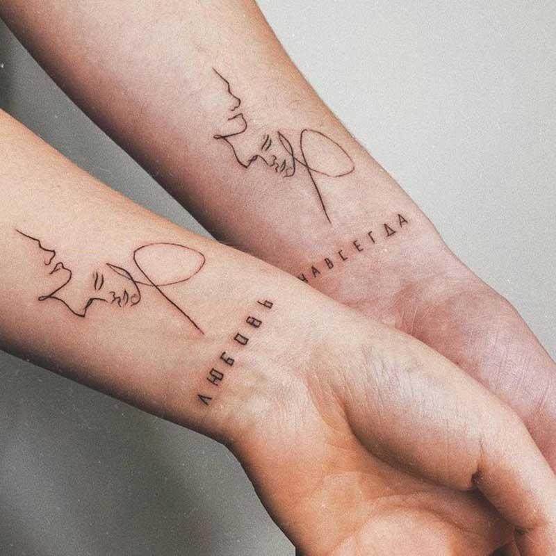 tatuagem-de-uma-linha-rosto