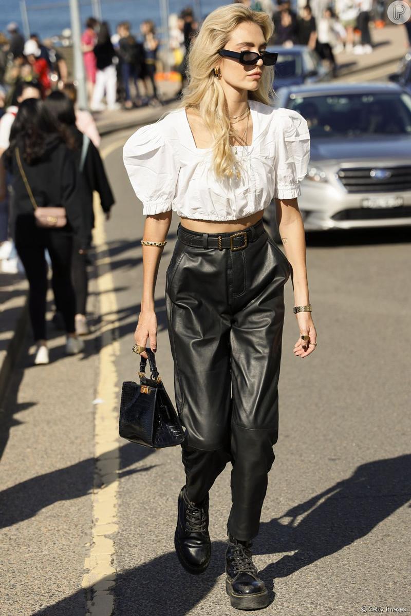 calca de couro tendencia looks como usar - Tendencias de pantalones 2021: estos modelos son los más populares