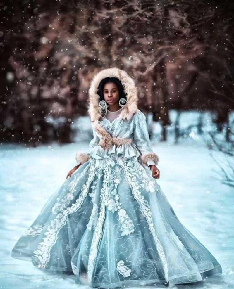 donzela do gelo - Fotos llenas de fantasía muestran la belleza de la piel oscura