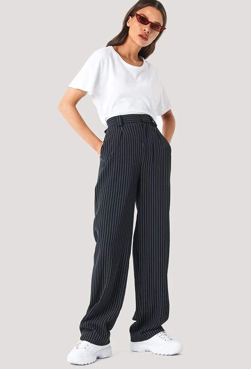 tendencia calca social com prega cos alto looks - Tendencias de pantalones 2021: estos modelos son los más populares
