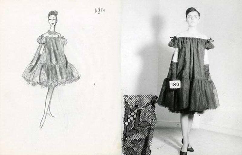 1958-Cristóbal-Balenciaga-vestido-babydoll