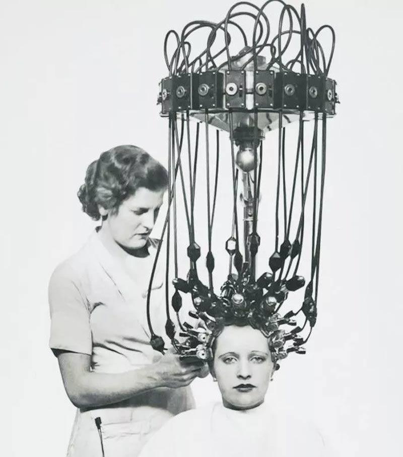 maquiana para fazer ondas nos cabelos antigamente - Estas fotos de productos de belleza vintage son muy fascinantes.