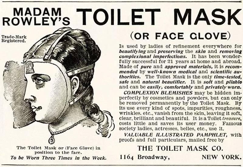 mascara sanitaria - Estas fotos de productos de belleza vintage son muy fascinantes.