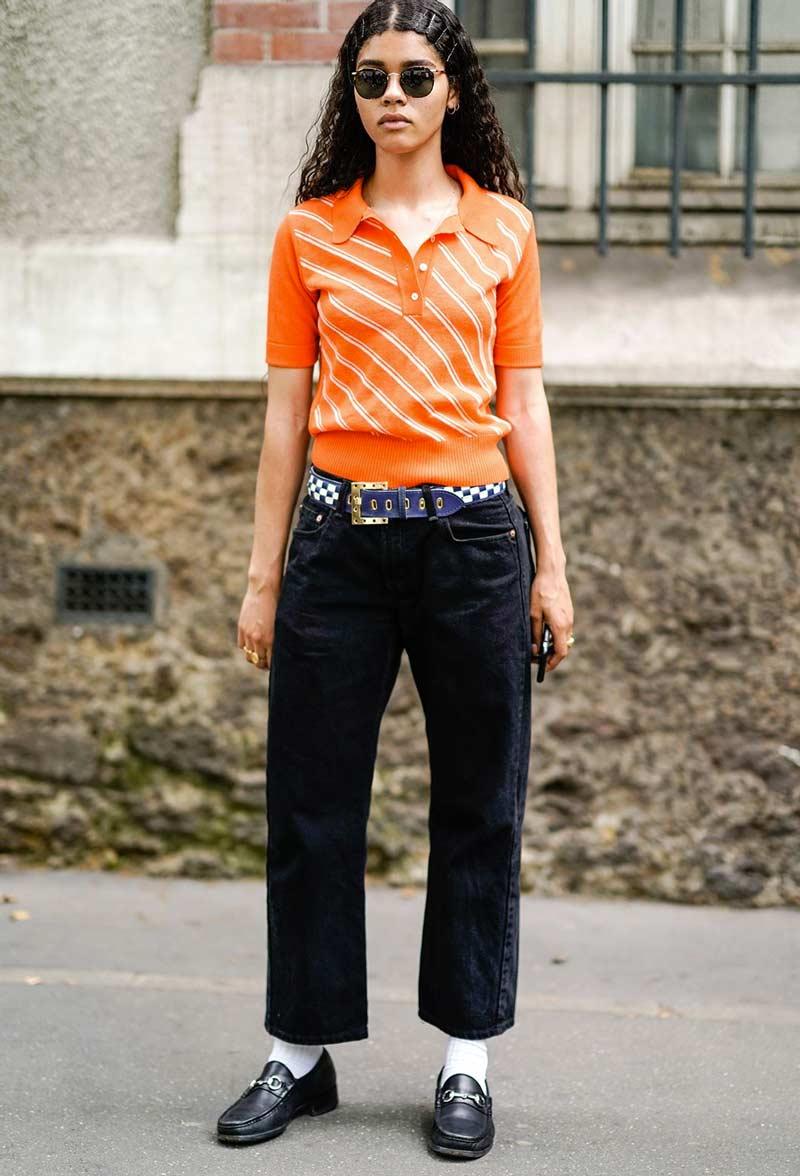camisa-polo-feminina-laranja-estilo-anos-70-looks-como-usar