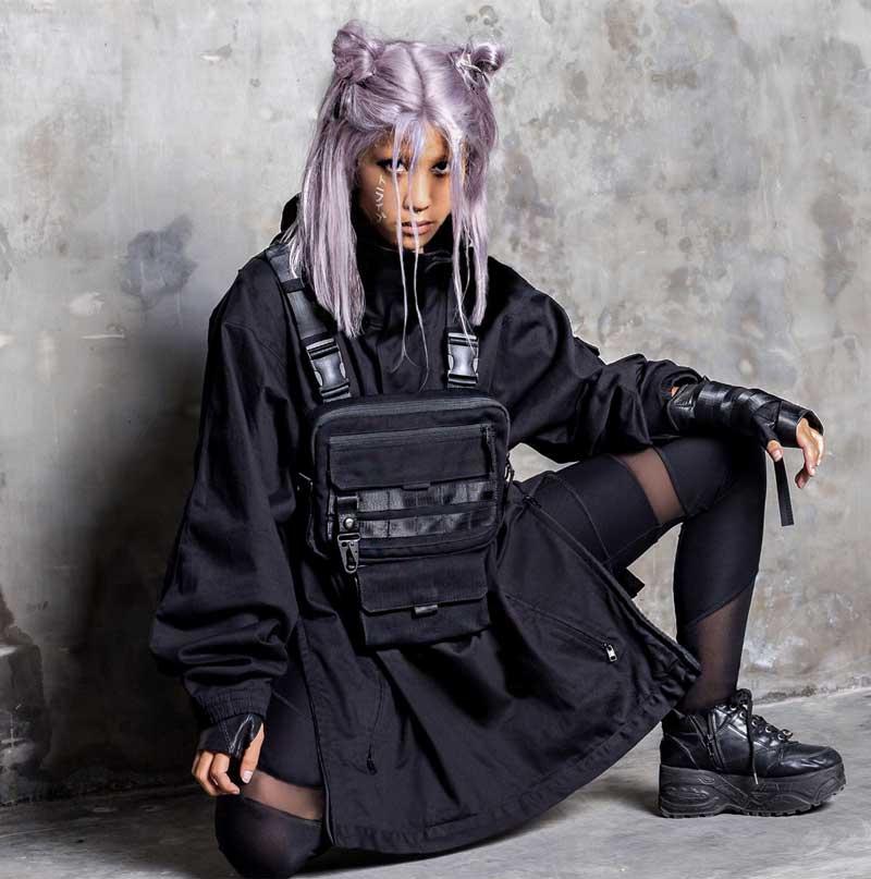 bolsa techwear feminina looks como usar moda