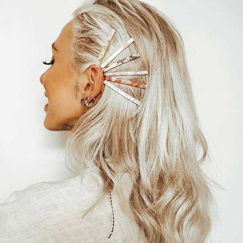grampos de resina acessorios cabelos