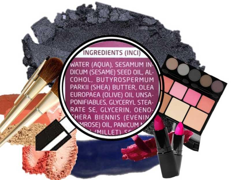 ingredientes produtos de beleza