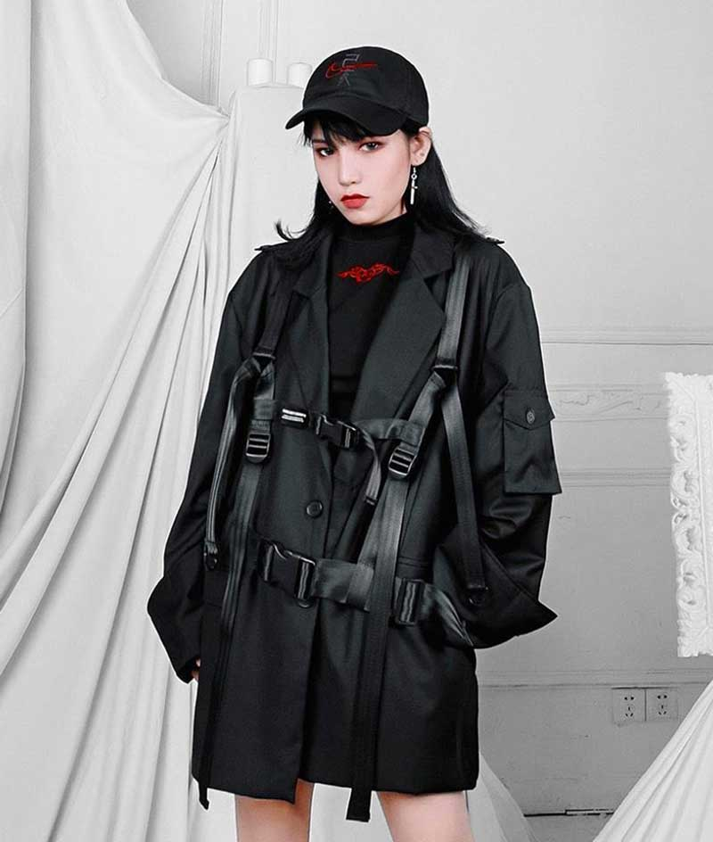 jaquetas femininas techwear roupas looks moda