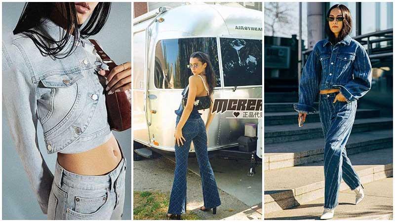 moda y2k anos 2000 denim looks all jeans