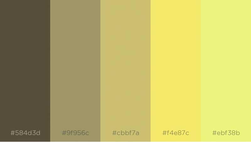 techwear paleta de cores amarelo