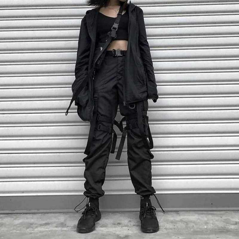 roupas techwear feminina looks como usar