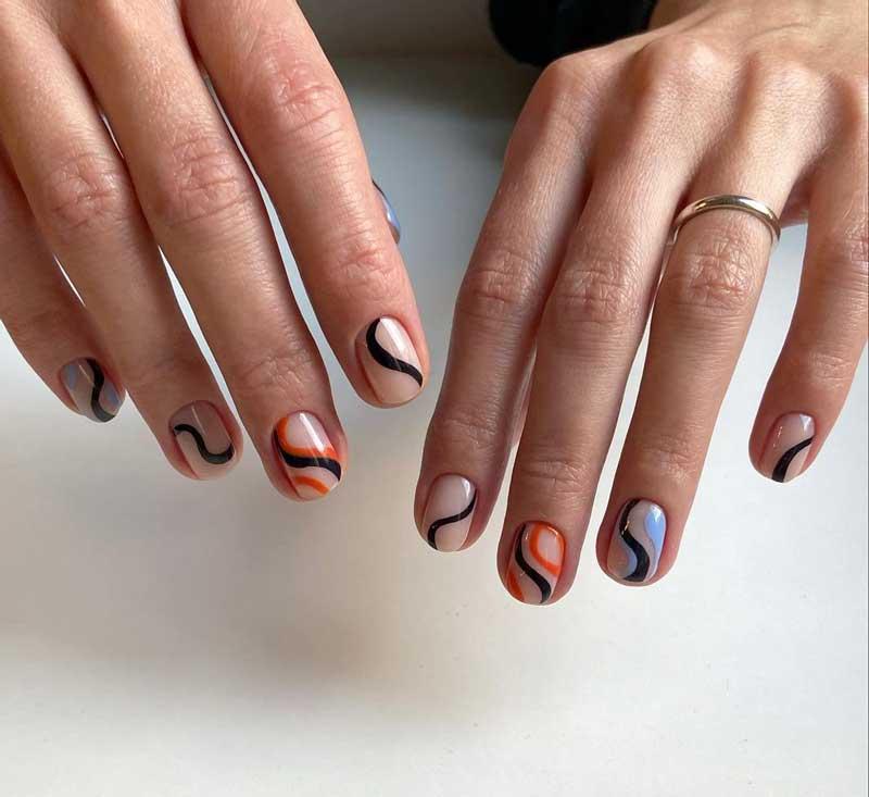 linhas finas tendencia nail art