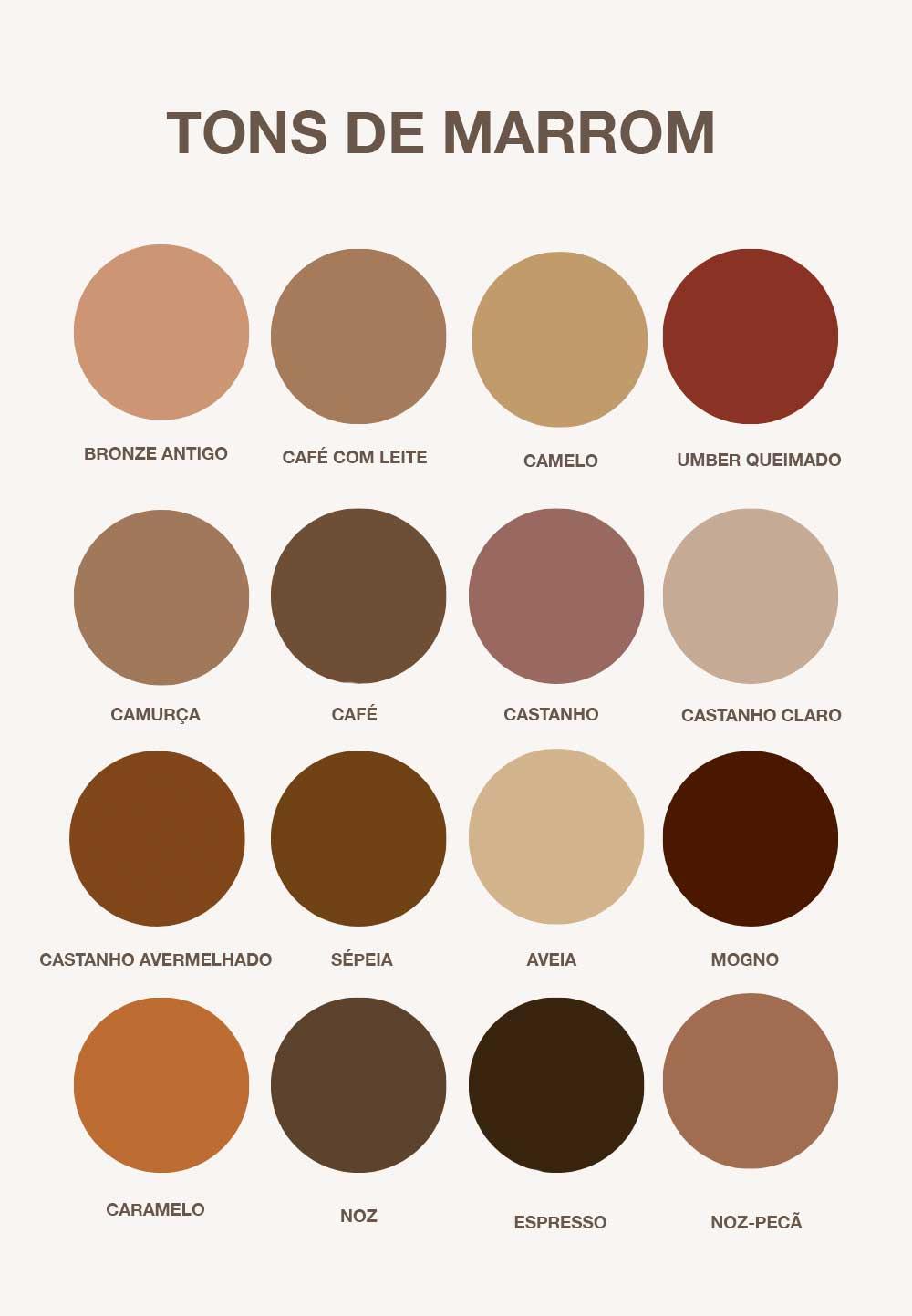 tonalidades de marrom