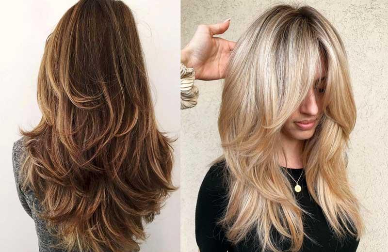 camada longa nos cabelos
