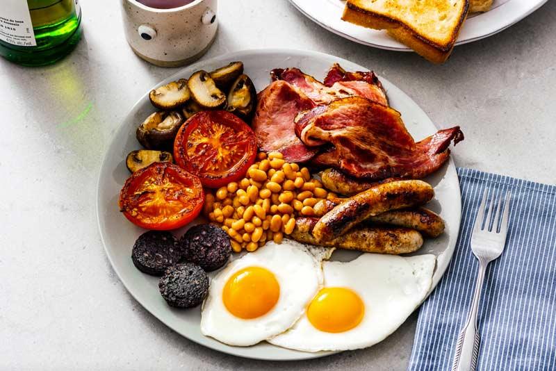 receita café da manhã inglês
