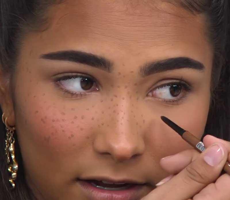 como fazer sarda falsa com lápis de boca