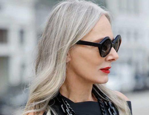 penteados cabelos grisalhos 60 anos