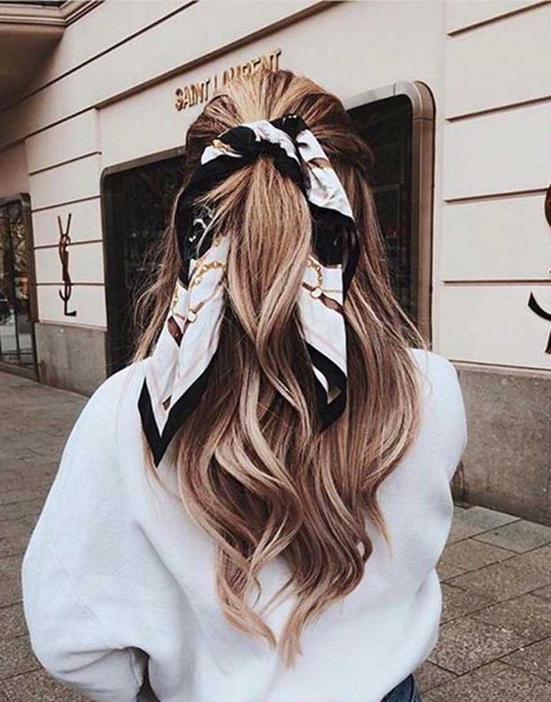 penteados com lenço