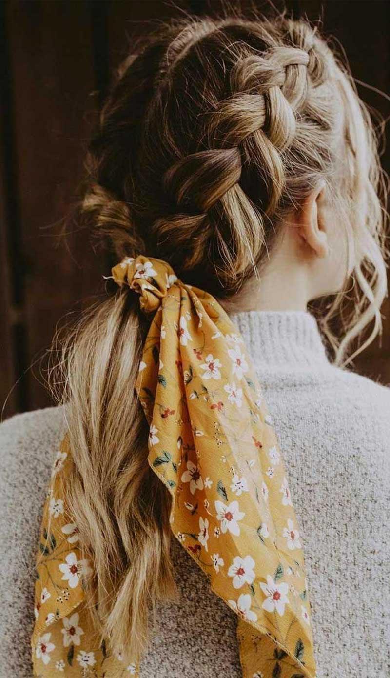 penteados tranças com lenço
