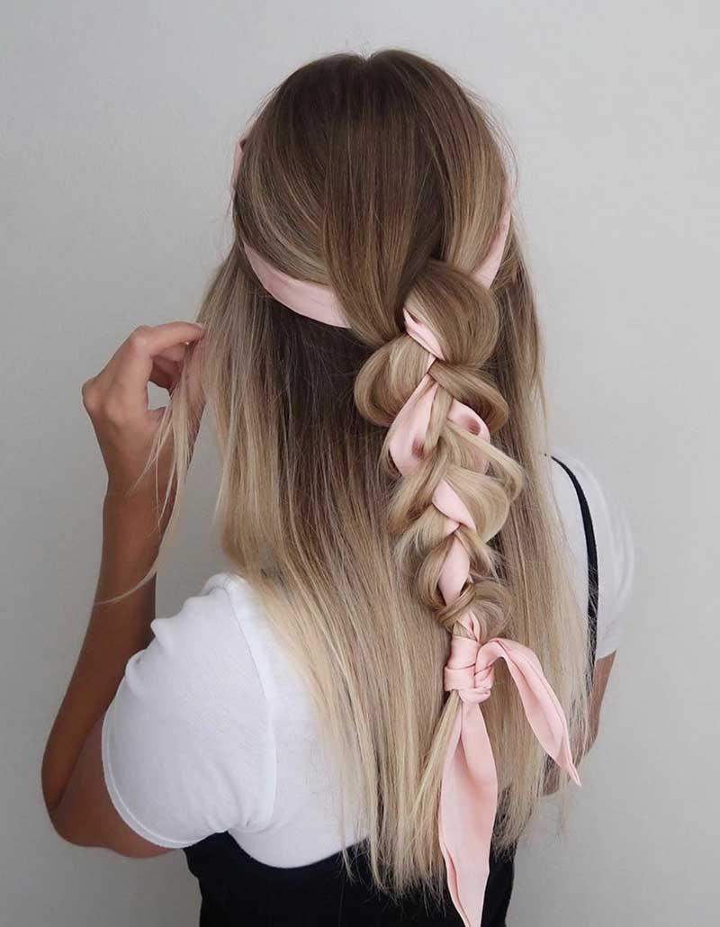 tranca com lenço penteados bonitos